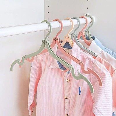 旅人小棧  B006~旅行衣架 折疊式衣架 馬卡龍 出國 收納 旅行 4件組