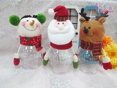 ☆[Hankaro]☆歐美創意聖誕布置道具聖誕造型透明糖果罐-大尺寸-(樣品出清)