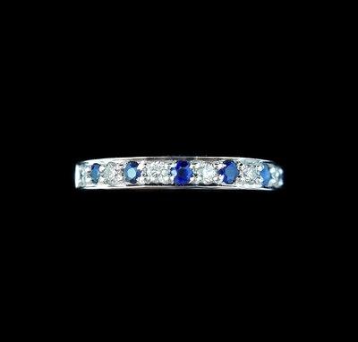 【英皇精品集團 】天然藍寶鑽石戒指 線...
