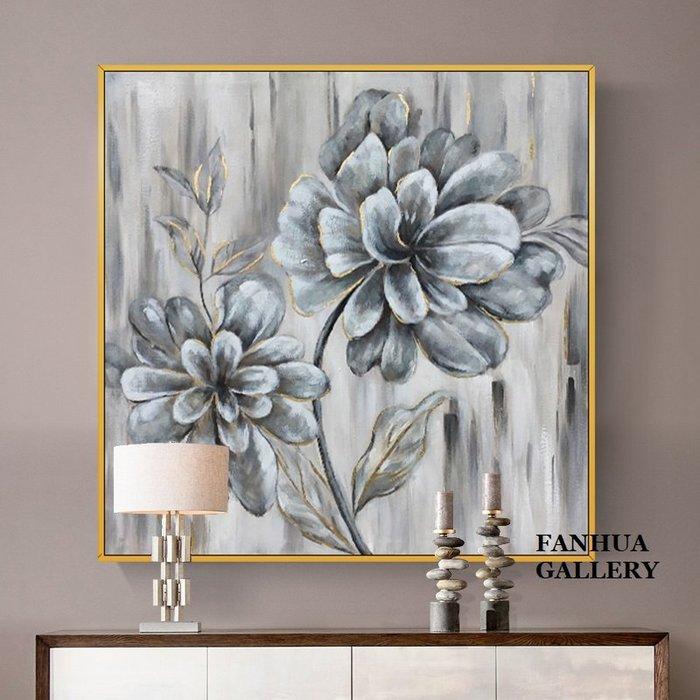 C - R - A - Z - Y - T - O - W - N 純手繪立體油畫抽象花卉玄關裝飾畫美式豪宅花開富貴掛畫立體筆觸油畫原創抽象巨幅裝飾畫設計師款畫