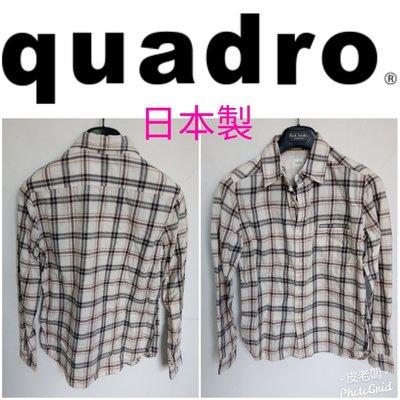 【皮老闆】二手真品 QUADRO 衣服 上衣 長袖 日本製 E617