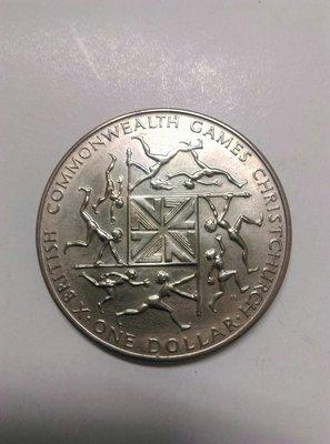 1974紐西蘭大英國協運動會紀念幣,約27克重