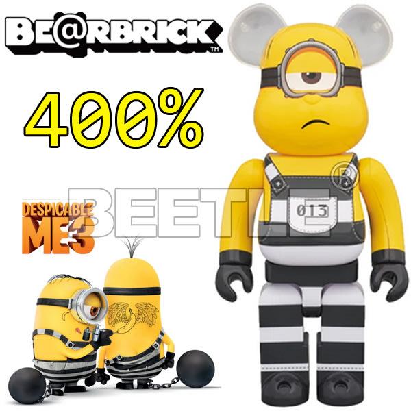BEETLE BE@RBRICK BEARBRICK MINIONS MEL 監獄 神偷奶爸 小兵 庫柏力克熊 400%