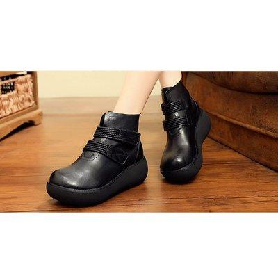 『老兵牛仔』CB-183-7新款頭層牛皮厚底休閒鞋/頭層牛皮/時尚/彈力/耐摩/個性