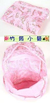 滿3免運!日本進口~正版美樂蒂my melody 後背包旅行袋/可掛拉桿行李箱/折疊收納行李袋.購物袋/手提+後背~粉色