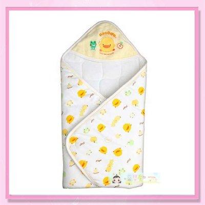 <益嬰房>黃色小鴨 秋冬印圖包巾 GT-81655 嬰兒冬季厚包巾