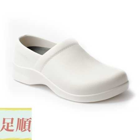 滿千免運 牛頭牌 護士鞋  防水 麵包 廚師 醫生工作鞋 白色 女款 台灣製造 NEW BUFFALO 【足順皮鞋】