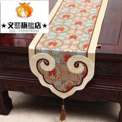 預售款-WYQJD-新中式桌旗桌條茶幾旗床旗餐墊紅木家具簡約現代餐桌布*優先推薦