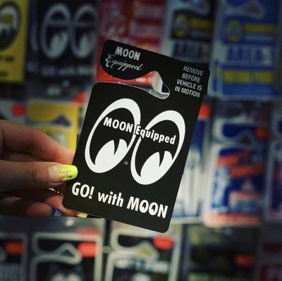 (I LOVE樂多)MOONEYES MOON Eyeshape Parking Permit 停車許可證
