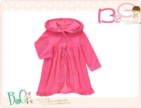 【B& G童裝】正品美國進口Gymboree 粉紅色連帽泳裝罩衣18-24mos,2yrs