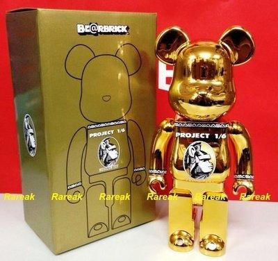 Medicom Bearbrick Project 1/6 Centurion 400% Gold 金色 Bearbrick 1 隻 (100% 全新)
