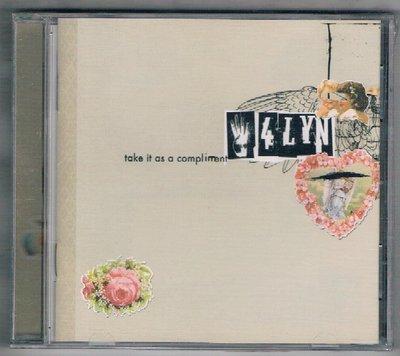 [鑫隆音樂]西洋CD-林家一口 4 Lyn:那就當作讚美吧Take It As A Compliment 全新/免競標