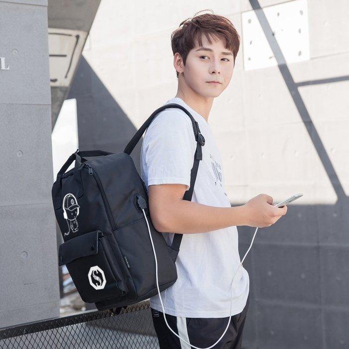 SX千貨鋪-韓版手提包雙肩包女休閑帆布手提包背包潮電腦包學院風學生書包男#男士背包#書包#單肩包#書包