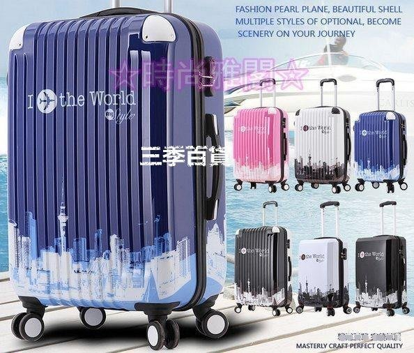 三季行李箱包拉桿箱萬向輪旅行箱女24寸塗鴉28寸密碼箱男學生拉箱子20❖574
