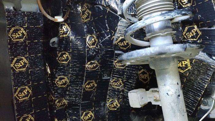 [樂克影音] 俄羅斯 STP  黑金制震素材   四輪拱套餐/多層施工/重點強化/抗熱材質/厚度加強