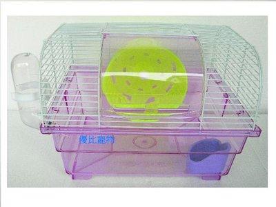 【優比寵物】優質大型壓克力底座圓頂鼠籠NO.736(附夜光轉輪.飲水器.食皿)