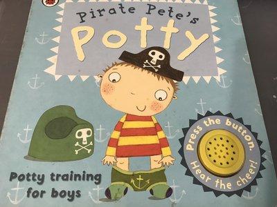 二手 Pirate Pete's Potty 音效書 英文繪本