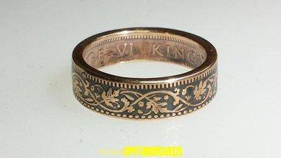 英屬印度 ¼安娜銅幣手工戒指-efans伊凡斯幣戒坊