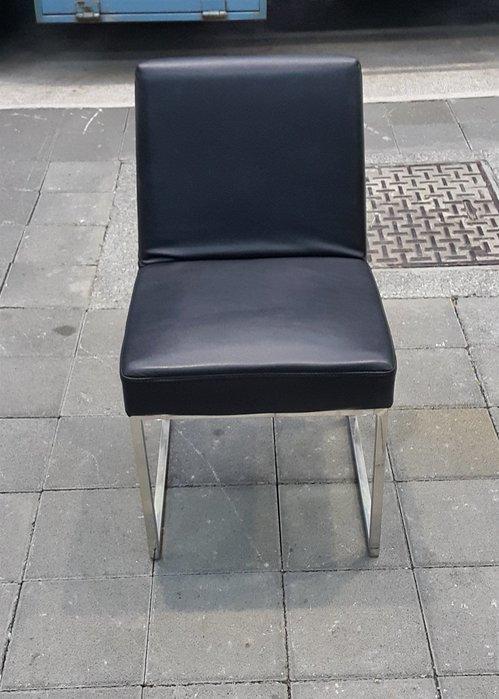 樂居二手家具 F0315IJJ 黑色皮面餐椅  洽談椅 書桌椅 電腦椅 會客椅 2手各式桌椅拍賣【全新中古家具家電賣場】
