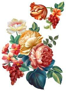 小妮子的家@手繪系列水移畫/古典玫瑰轉印貼紙/家具貼~2.22