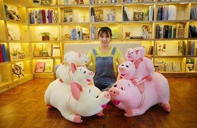 ~汪汪鼠~~30公分~貪吃豬抱枕 情侶豬玩偶 絨毛娃娃 過年拜拜仿真道具 豬年吉祥物 聖誕節  情人節