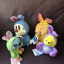 (Y813)迪士尼毛公仔米奇、維尼、史迪仔扮兔仔($200/4隻)