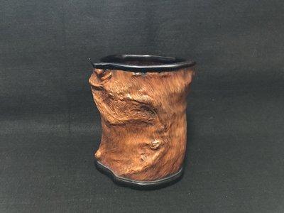 清代 癭木隨形筆筒
