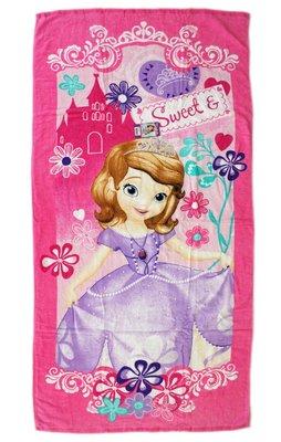 【卡漫迷】 蘇菲亞 大浴巾 ㊣版 小公主 Sofia 毛巾 浴巾 海灘巾 洗澡 泡湯 迪士尼 游泳 小涼被 印花 嬰兒