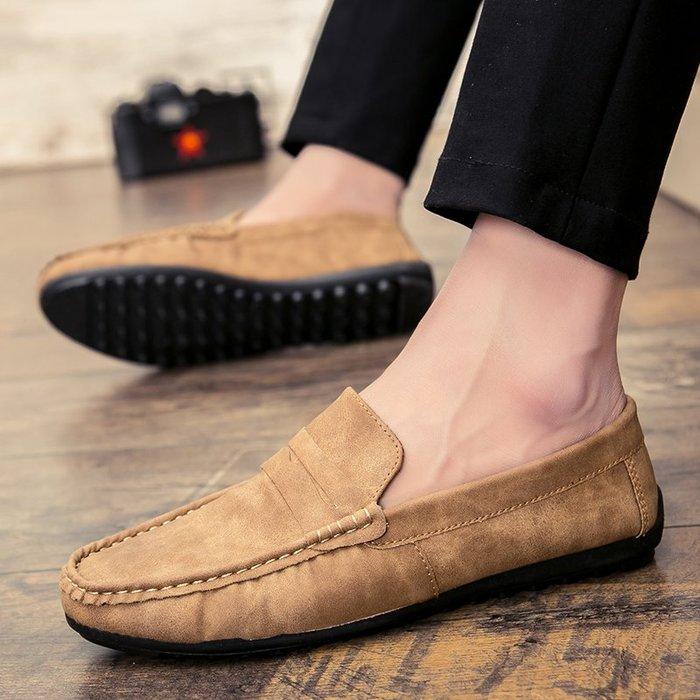 衣萊時尚-熱賣款 新款春季豆豆鞋男士休閑鞋韓版潮流個性百搭社會網紅懶人潮鞋