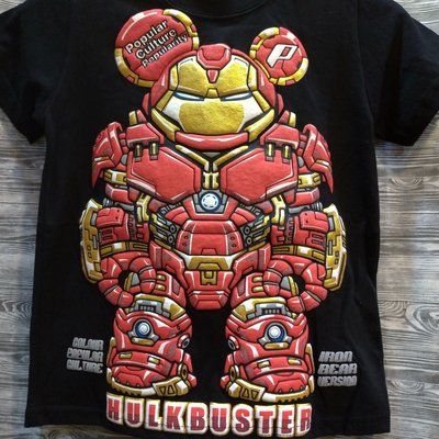 免運費 親子裝 翻玩 復仇者聯盟 鋼鐵人 台灣製造 立體印刷 黑色 T恤 加大尺碼
