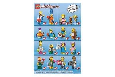 LEGO 樂高 辛普森家庭 第二代 人偶包 71009 全套16隻 THE SIMPSONS 2 minifigures
