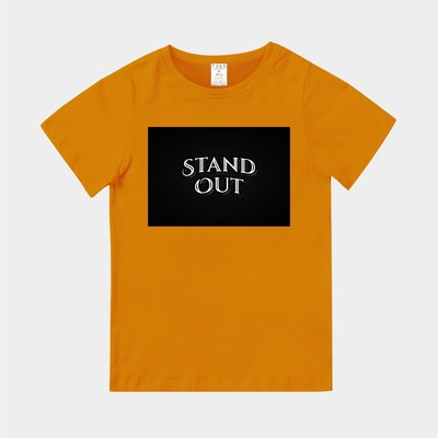 T365 MIT 親子裝 T恤 童裝 情侶裝 T-shirt 標語 話題 美式風格 slogan STAND OUT