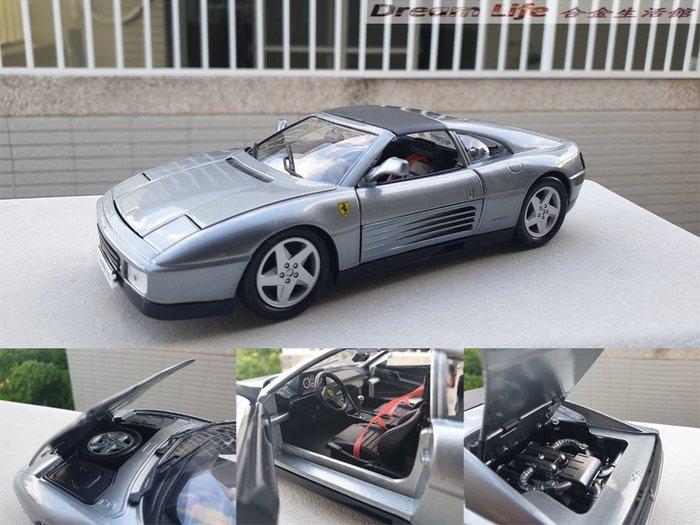 【Bburago 精品】1/18 Ferrari 348ts 法拉利~全新品銀色~現貨特惠價~!