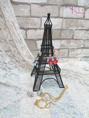 ☆[Hankaro]☆創意鐵藝鐵塔造型耳環首飾架(樣品出清)