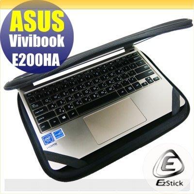 【Ezstick】ASUS E200 E200HA 10吋寬 三合一超值防震包組 筆電包 組 (10W-L)