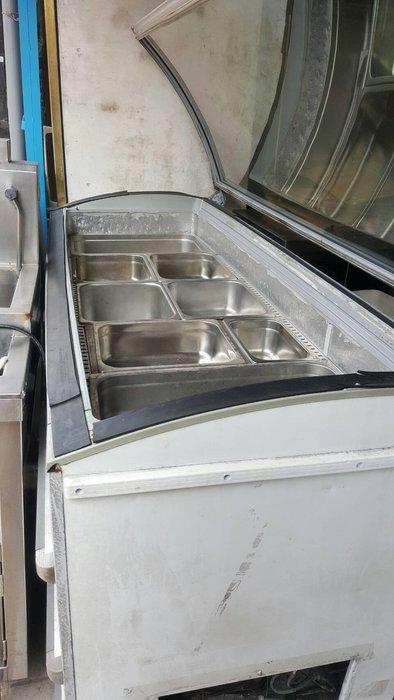 *大銓冷凍餐飲設備【中古】 玻璃上掀冷凍櫃*