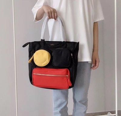 【全新正貨私家珍藏】ANYA HINDMARCH Tote 尼龍款手提單肩購物包~((新款))