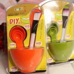 敷臉Diy面膜必備套裝工具組(面膜碗+棒+刷+計量匙)-艾發現
