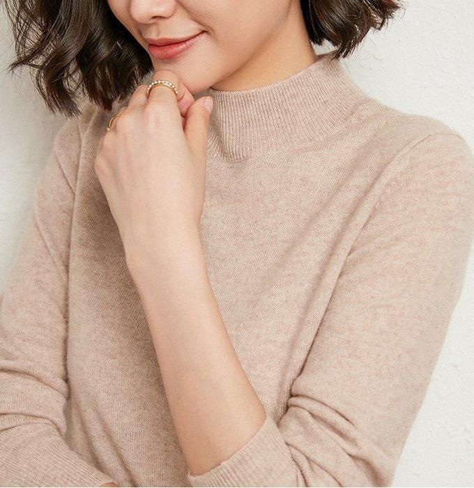 【粉絲限定款】粉絲只要345元(原價690元)-秋冬半高領套頭針織衫