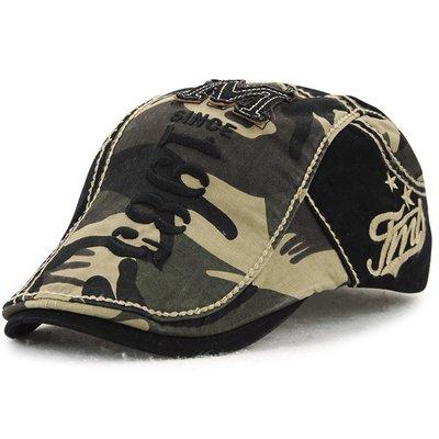 新款歐美時尚貝雷帽迷彩 鴨舌帽男女士前進帽春夏天太陽帽遮陽帽潮