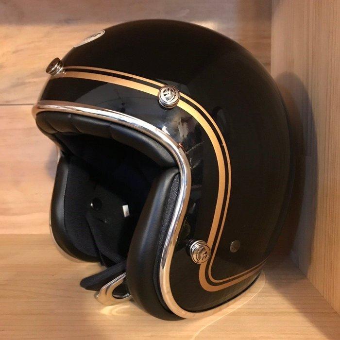 (I LOVE 樂多) 最新二代 Chief Helmet Ticuna系列 3/4 安全帽 (亮黑)