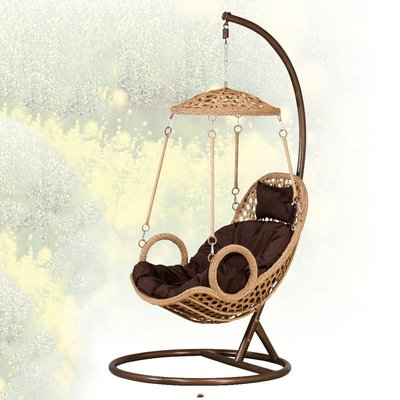 【優比傢俱生活館】19 便宜購-經典草帽造型吊籃/搖椅/休閒吊椅 SH842-4