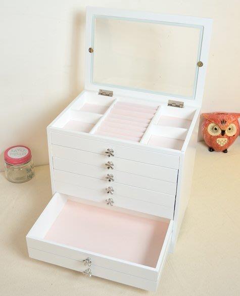 【易發生活館】歐式首飾盒飾品收納盒木質高檔珠寶梳妝盒韓國多層