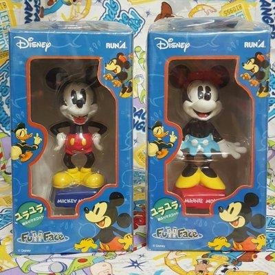 【絕版】1993年 純手工版本 Disney FullFace 米奇 米妮 波麗 公仔 GK 陶瓷擺飾 頭部可搖擺 搖頭