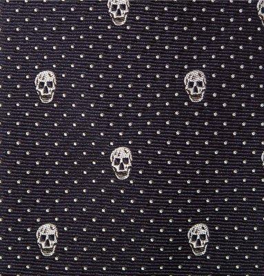 慧眼Z │ ALEXANDER McQUEEN Tie 經典骷髏 領帶 點點 深藍 SLP Gucci Amiri