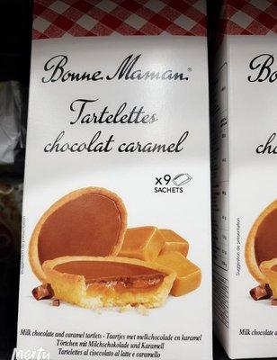 2/25前 BONNE MAMAN 法國好媽媽 焦糖巧克力塔135g 頁面是焦糖巧克力價格aci
