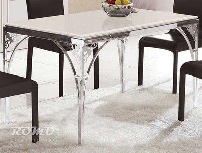 【DH】商品編號415-964-3商品名稱莎特4.3尺石面不鏽鋼餐桌。簡約雅緻精品。主要地區免運費