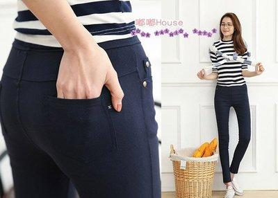 ☆嘟嘟House☆【熱賣(PJ0260128017)鬆緊腰圍小腳褲】M~6L二色