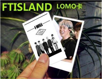 預購/FTISLAND韓國明星周邊集體寫真100張lomo卡小照片李洪基送鐵盒