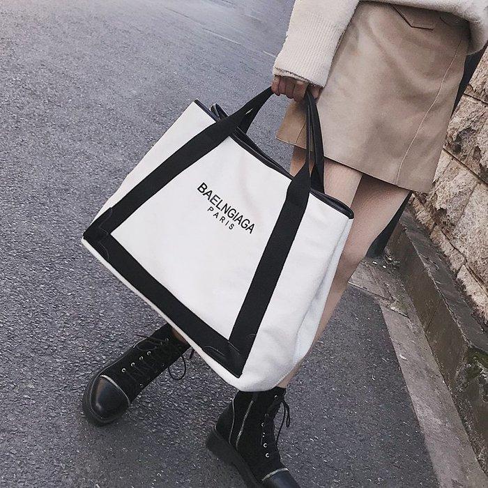 大包包2019新款歐美帆布包單肩包斜背包側背包大容量手提包